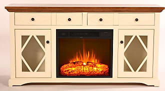 Eagle Furniture Shelter Bay Electric Fireplace TV Console - FP321763WHCC