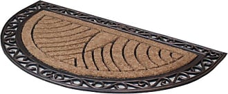 First Impression Half Round Double Outdoor Door Mat - A1HOME200083