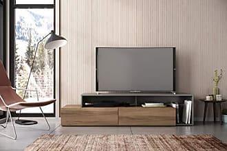 Nexera 112050 Tonik TV Stand, 72-inch, Nutmeg & Greige, Light Brown and Grey