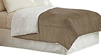 Idea Nuova Warmth Micromink and Sherpa Comforter, Twin, Chocolate