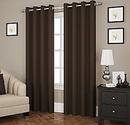 Ellery Homestyles Eclipse 14890052084CHC Ridley 52-Inch by 84-Inch Room Darkening Single Window Curtain Panel, Chocolate