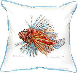 Betsy Drake SN093 Lion Fish Guest Towel Pillow, 12 x12