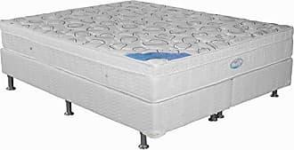 Ortobom Conjunto Cama Box Cori com Colchão King Molas Ensacadas Light (27x186x198) Bege