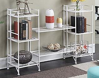 Convenience Concepts 8025W Xtra Storage Folding Shelf, White