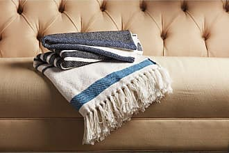 Jaipur Living Rugs Spirit Alternating Stripe Tasseled Decorative Throw - THR100236
