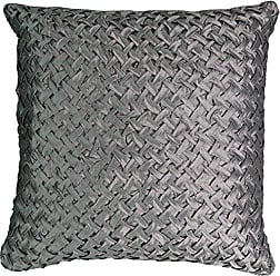 Ellery Homestyles Beautyrest Chacenay Faux Silk Decorative Pillow, 20 x 20, Pewter