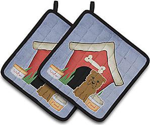 Carolines Treasures Longhair black /& Tan Dachshund Hearts Pair of Pot Holders Multicolor 7.5HX7.5W