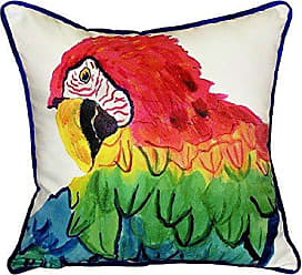 Betsy Drake SN291 Parrot Head Small Indoor/Outdoor Pillow 12 x12