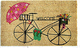 Geo Crafts Vinyl Back Bicycle Welcome Doormat