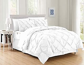Elegant Comfort Luxury Best, Softest, Coziest 8-Piece Bed-in-a-Bag Comforter Set on Amazon! Elegant Comfort - Silky Soft Complete Set Includes Bed Sheet Set with Double Sided Storage Pockets, Full/Queen, White