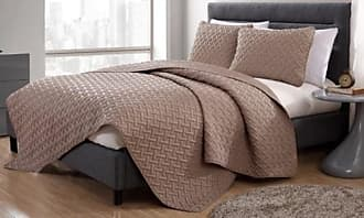 VCNY Home 3Pcs Embossed Quilt Sets - Black - Size:King