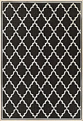 Couristan Monaco Collection Ocean Port Rug, Black/Sand, 9 by 12-Feet