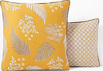 71f91ad52d5189 La Redoute Interieurs Taie oreiller percale de coton FOUGÈRE - LA REDOUTE  INTERIEURS - Imprimé Moutarde