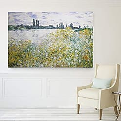 WEXFORD HOME Flowers on The Banks Gallery Wrapped Canvas Art Print Multicolor