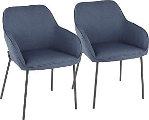 LumiSource Daniella Solid Back Dining Arm Chair - Set of 2 Gray - DC-DANIELLA BKGY2