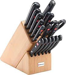 Wüsthof WÜSTHOF Gourmet Eighteen Piece Block Set | 18-Piece German Knife Set | Precise Laser Cut High Carbon Stainless Steel Kitchen Knife Set with 17 Slot Wood Block - Model 9718