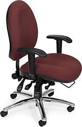 OFM 24 Hour Big and Tall Ergonomic Task Chair - Computer Desk Swivel Chair with Arms, Burgundy (247)