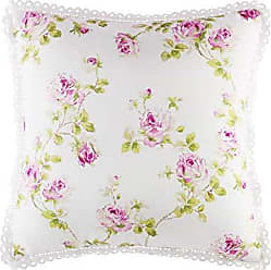 Five Queens Court Rosalind 20 Inch Square Floral Throw Pillow, Pink