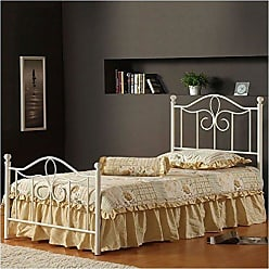 Hillsdale Furniture Hillsdale Furniture 1354BFMR Westfield Metal Bed Set with Rails, Full, Off White
