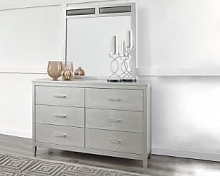 Ashley Furniture Olivet Dresser And Mirror, Silver