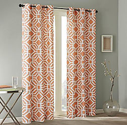 INTELLIGENT DESIGN Grommet Curtains For Living Room Maci Geometric Window Bedroom Family