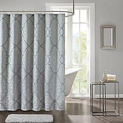Madison Park Lavine Design Blue Shower Curtain, Jacquard Classic Shower  Curtains For Bathroom, 72