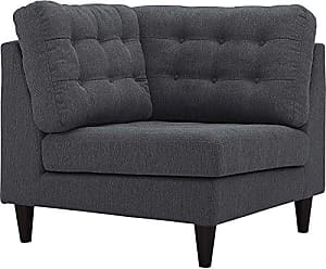 ModWay Modway Empress Mid Century Modern Upholstered Fabric Corner Sofa In  Gray