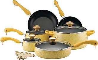 Paula Deen Collection Porcelain Nonstick 15 Piece Cookware Set, Butter  Speckle