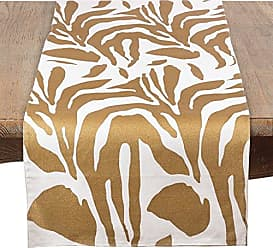 GL1672B Metallic Animal Print Table Runner, Gold, 16x72