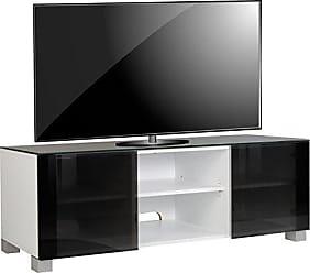 cheap vcm tv lowboard schrank tisch rack fernseh konsole mbel weilack schwarzglas xx cm with tv konsole glas