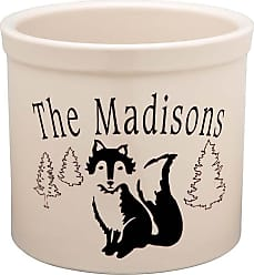 Whitehall USA-Made Handcrafted Personalized Ceramic Fox Crock