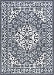 Tayse Francesca Traditional Oriental Charcoal Non-Skid Rectangle Area Rug, 5 x 7
