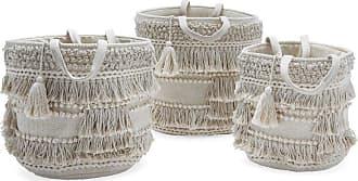 Drew Barrymore Flower Home Hand Woven Macrame 3 Piece Basket Set Natural by Drew Barrymore Flower Home - BDD9D9392DFB450CA4875505332FE7E5