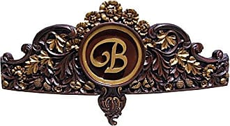 Hickory Manor House Bedcrown with Initial, Espresso