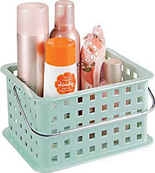InterDesign Storage Organizer Basket, for Bathroom, Health and Beauty Products - Small, Mint