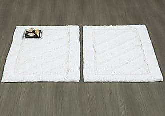 Ottomanson Ruby Collection 100% Pure Cotton Luxury Bath Rug, 20 X 31, White