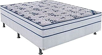 Ortobom Conjunto Cama Box Physical com Colchão Casal Molas Nanolastic Confort (20x138x188) Branco