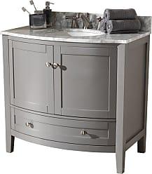 Baxton Studio Nicole 36 in. Single Sink Bathroom Vanity - NICOLE-36-SLATE GREY