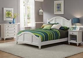 Home Styles Bermuda White Queen Bed with Night Stand and Chest by Home Styles