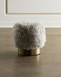 Interlude Home Doutzen Sheepskin Stool