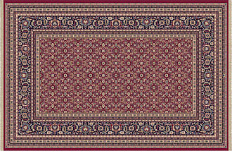 Dynamic Rugs Brilliant Collection Wool Hearth Rug-Red Cyril - BR2472240330