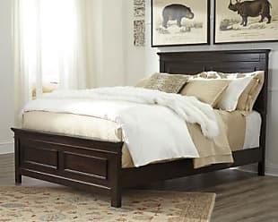 Ashley Furniture Alexee California King Panel Bed, Dark Brown