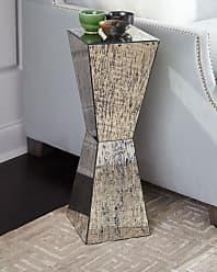 John-Richard Geometric Antiqued Mirror Martini Table