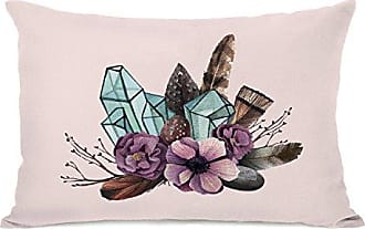 One Bella Casa 15019PL42 Crystal Bunch Pillow by OBC, Multicolored