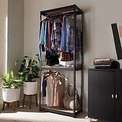 Baxton Studio Gavin Metal 3-Shelf Closet Storage Racking Organizer - BH06-BLACK-SHELF