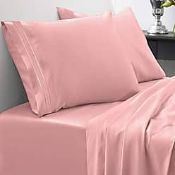 Sweet Home Collection 1800 Thread Count Sheet Set - Soft Egyptian Quality Brushed Microfiber Hypoallergenic Sheets - Luxury Bedding Set with Flat Sheet, Fitted Sheet, 2 Pillow Cases, California King, Pink