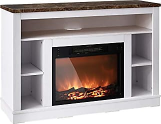 Cambridge Silversmiths Seville Fireplace Mantel with Electronic Fireplace Insert, White