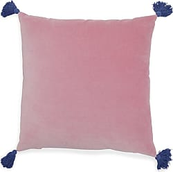 Drew Barrymore Flower Home Velvet Decorative Throw Pillow with Tassels by Drew Barrymore Flower Home Palm Springs Pink - 6A803AC80BAD49CCA0AB7DD7761948F7