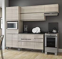Itatiaia Cozinha Compacta Itatiaia Belíssima Plus 3 Peças 7 Portas Saara Wood