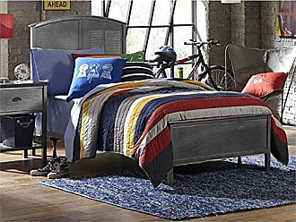Hillsdale Furniture 1265BFRP Urban Quarters Panel Bed Set with Rails Full Black Steel